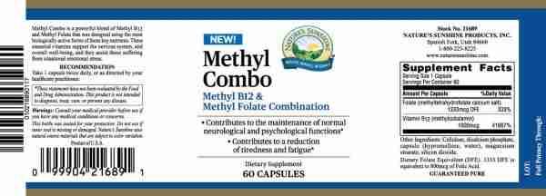 Methyl Combo - Folate & B12